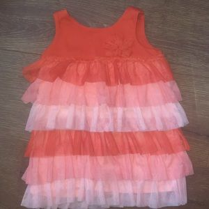 24 month Baby/Toddler Girl's Orange Dress w Tulle